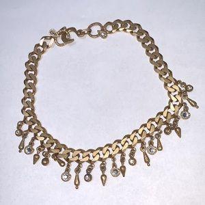 Patricia Locke Vintage Gold Herringbone Necklace